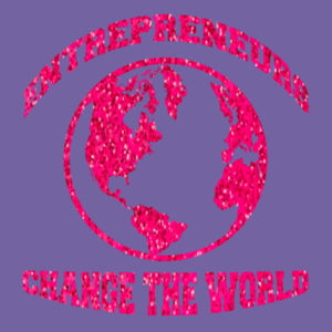 Change the World - Ladies Tri-Blend T Design