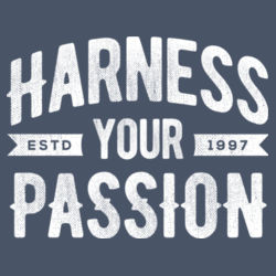 Harness Your Passion - Ladies Tri-Blend Long Sleeve Hoodie Design