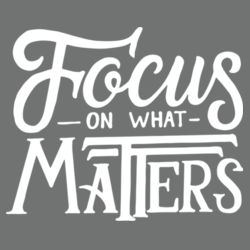 Focus on What Matters - Ladies Long Sleeve Tri Blend T Design