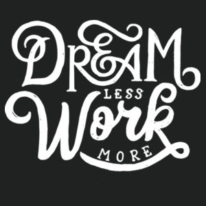 Dream Less Work More - Adult Colorblock Sweatshirt Design