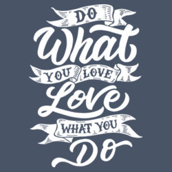 Do What You Love - Ladies Long Sleeve Tri Blend T Design