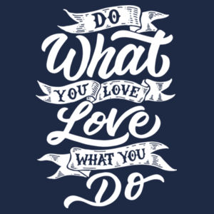 Do What You Love - Adult Colorblock Sweatshirt Design