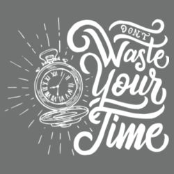 Don't Waste Your Time - Ladies Long Sleeve Tri Blend T Design
