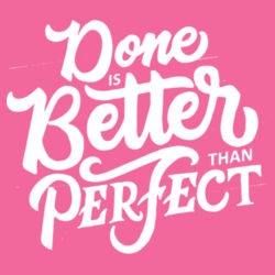 Done Is Better Than Perfect - Ladies Tri-Blend Long Sleeve Hoodie Design