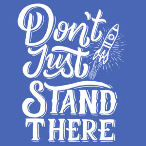 Don't Just Stand There - Ladies Tri-Blend Racerback Tank Design