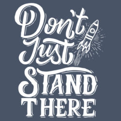 Don't Just Stand There - Ladies Tri-Blend Long Sleeve Hoodie Design