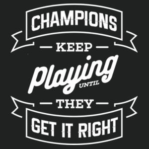Champions Keep Playing - Adult Colorblock Sweatshirt Design