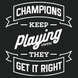 Champions Keep Playing - Lace Hooded Sweatshirt Design
