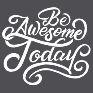 Be Awesome Today - Lace Hooded Sweatshirt Design