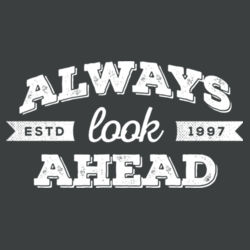 Always Look Ahead - Ladies Tri-Blend V-Neck T Design