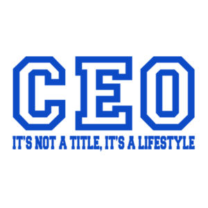CEO Blue - 24 x 36 Wall Decal Design