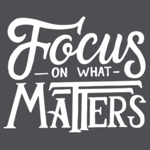 Focus on What Matters - Lace Hooded Sweatshirt Design