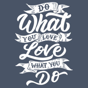 Do What You Love - Adult Tri-Blend Long Sleeve Hoodie Design
