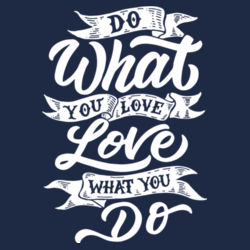 Do What You Love - Lace Hooded Sweatshirt Design