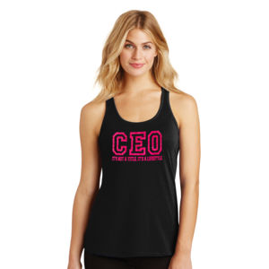 CEO - Ladies Gathered Racerback Tank Thumbnail
