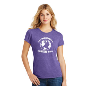 Change the World - Ladies Tri-Blend T Thumbnail