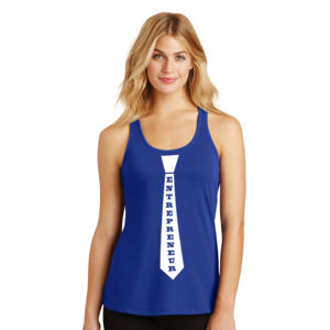 Entrepreneur Tie - Ladies Gathered Racerback Tank Thumbnail