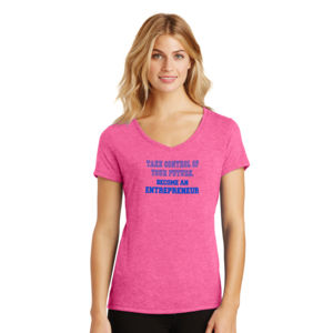 Take Control - Ladies Tri-Blend V-Neck T Thumbnail