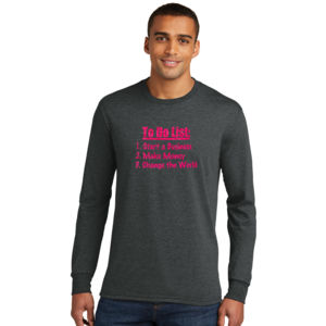 To Do List - Adult Tri-Blend Long Sleeve T Thumbnail