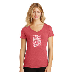 I Never Dreamed About Success - Ladies Tri-Blend V-Neck T Thumbnail