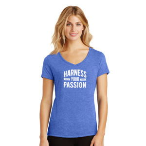 Harness Your Passion - Ladies Tri-Blend V-Neck T Thumbnail