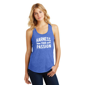 Harness Your Passion - Ladies Tri-Blend Racerback Tank Thumbnail