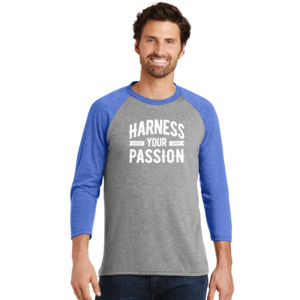 Harness Your Passion - Adult Tri-Blend 3/4 T Thumbnail