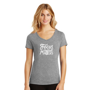 Focus on What Matters - Ladies Tri-Blend V-Neck T Thumbnail