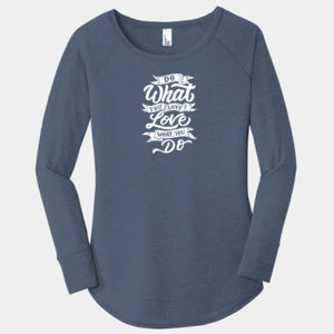 Do What You Love - Ladies Long Sleeve Tri Blend T Thumbnail
