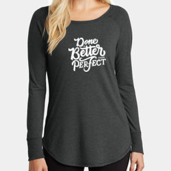 Done Is Better Than Perfect - Ladies Long Sleeve Tri Blend T Thumbnail