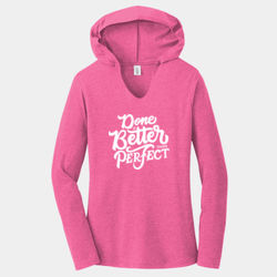 Done Is Better Than Perfect - Ladies Tri-Blend Long Sleeve Hoodie Thumbnail