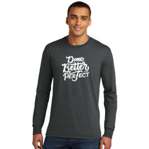 Done Is Better Than Perfect - Adult Tri-Blend Long Sleeve T Thumbnail