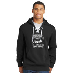 Champions Keep Playing - Lace Hooded Sweatshirt Thumbnail