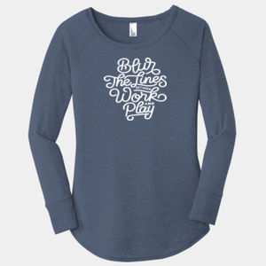 Blur the Lines - Ladies Long Sleeve Tri Blend T Thumbnail
