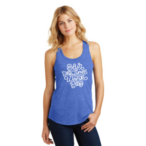 Blur the Lines - Ladies Tri-Blend Racerback Tank Thumbnail