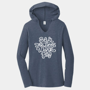 Blur the Lines - Ladies Tri-Blend Long Sleeve Hoodie Thumbnail