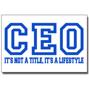 CEO Blue - 24 x 36 Wall Decal Thumbnail