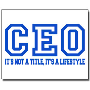 CEO Blue - 16 x 20 Wall Decal Thumbnail