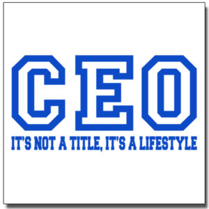 CEO Blue - 12 x 12 Wall Decal Thumbnail