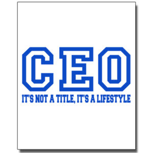 CEO Blue - 8 x 10 Wall Decal Thumbnail